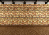 Modern grunge interior with brick wall