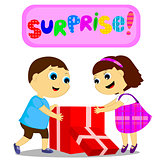 children and surprise
