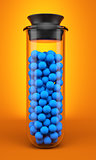 Test tube with spheres