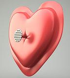 heart pierced by a nail