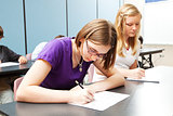 Teen Girls Taking Test