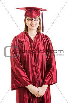 Portrait of Proud High School Graduate