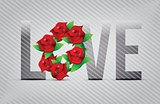red love flowers illustration designs
