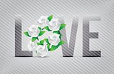 white love flowers illustration designs