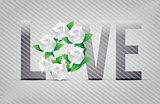 white love flowers illustration designs