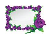 flower purple frame illustration design