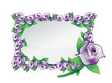 flower purple frame illustration design