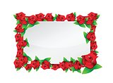 flower red frame illustration design