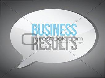 business results message illustration design