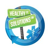 healthy solution road symbol illustration