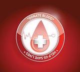 Donate blood. help us save lives illustration