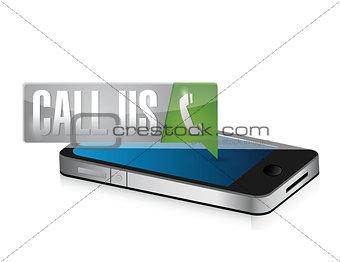 call us pin pointer sign illustration design
