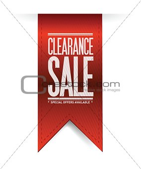 clearance sale red banner illustration