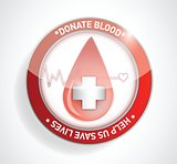 Donate blood. help us save lives illustration