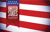 united states. usa flag banner illustration