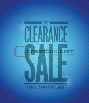 clearance sale concept illustration design