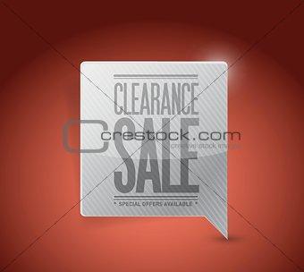 clearance sale sign illustration design
