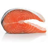 Slice Of A Raw Salmon