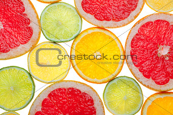 Citrus food background