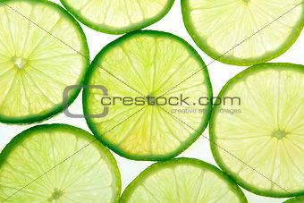 Green lime slices background