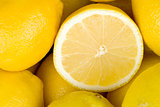 Lemons closeup background