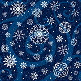 Winter Night Seamless Pattern