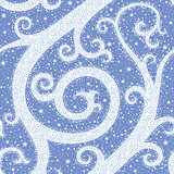 Winter Swirl Seamless Pattern