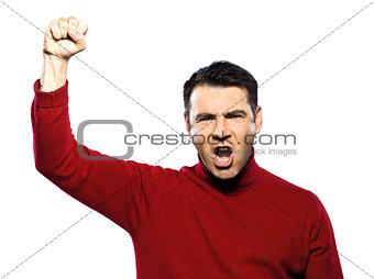 caucasian revolt man