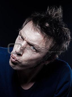 Funny Man Portrait pucker strain