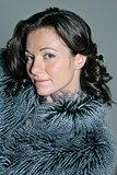 portrait beautiful caucasian mature woman