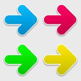four colored arrow