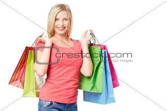 Customer with paperbags