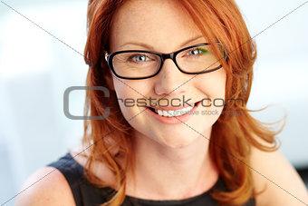 Woman in eyeglasses