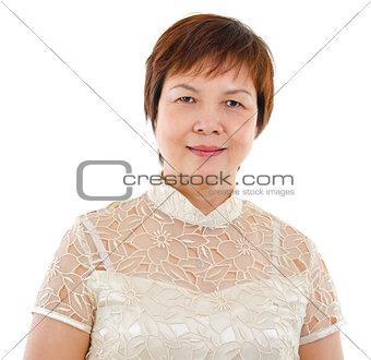 Modern mature Asian woman