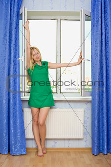Beautiful Girl Next Window