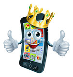 Cartoon phone man king