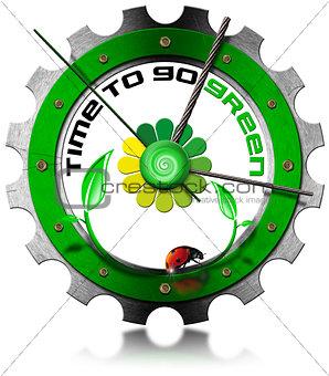 Time to Go Green - Metallic Gear