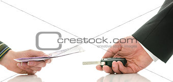 Exchanging money for car keys