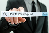 How to lose weight fast written in search bar