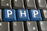 PHP written on computer keyboard