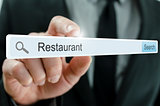 Word Restaurant written in search bar