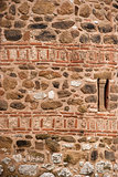 Stone ancient church wall