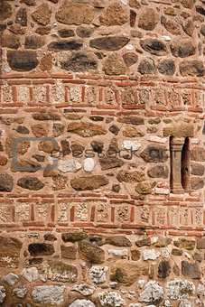 Stone ancient church wall