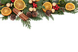 Christmas Fruit Border