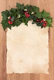 Christmas Parchment Letter