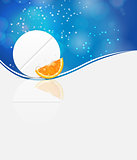 Orange pill icon.Environment background vector illustration