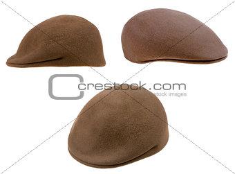 green felt mans cap