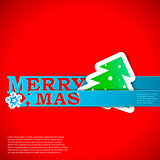 Merry Xmas strips card vector eps10 illustration