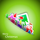 Stickers merry christmas card eps10 vector illustration