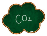 co2 on chalkboard